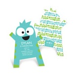 Monster Hug Cut Out -- Kids Birthday Invitations