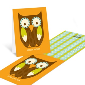 Peak A Boo Owl --�Thank You Cards