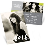 Candid Cards Vertical Mini Graduation Announcements