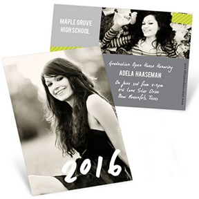 Candid Cards Vertical -- Mini Graduation Announcements