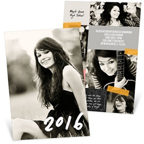 Candid Collage -- Graduation Announcements