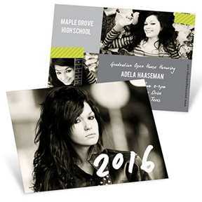 Candid Cards -- Mini Graduation Announcements