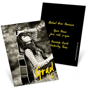 Make Your Mark -- Mini Graduation Announcements