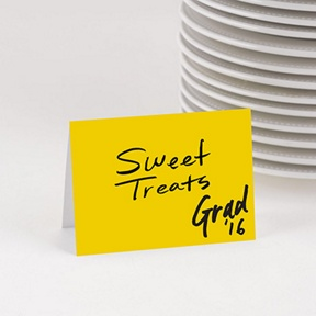 Marker Look Table Cards -- Graduation Party Decorations