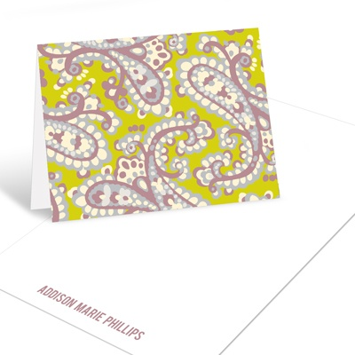 Paisley Print Graduation Thank You Cards