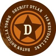 Sheriff Badge Address Labels