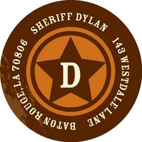 Sheriff Badge -- Address Labels