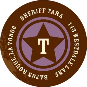 New Sheriff In Town -- Address Labels