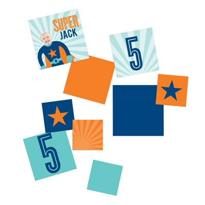 Picture Me Blue Superhero Kids Party Decorations