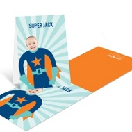 Picture Me Blue Superhero --�Thank You Cards