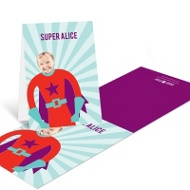 Picture Me Red Superhero --�Thank You Cards