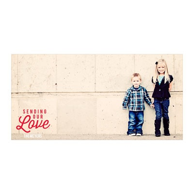 Scripted Message Horizontal Photo Paper Valentine's Day Photo Cards