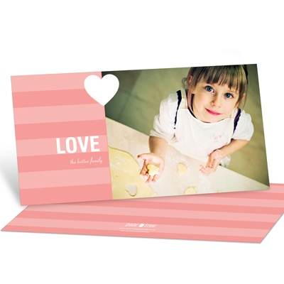 Holiday Love Horizontal Photo Valentine's Day Photo Cards