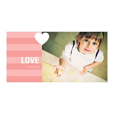Holiday Love Horizontal Photo Paper Valentine's Day Photo Cards