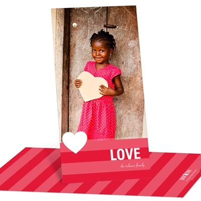 Holiday Love Vertical Photo Valentine's Day Photo Cards