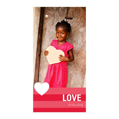 Holiday Love Vertical Photo Paper Valentine's Day Photo Cards