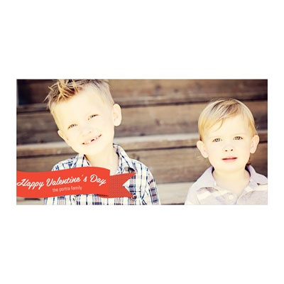 Sweet Banner Horizontal Photo Paper Valentine's Day Photo Cards