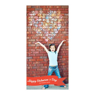Sweet Banner Vertical Photo Paper Valentine's Day Photo Cards