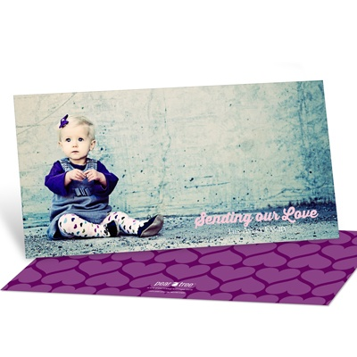 Creative Hearts Horizontal Photo -- Valentine's Day Photo Cards