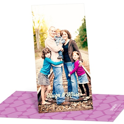 Creative Hearts Vertical Photo Valentine's Day Photo Cards