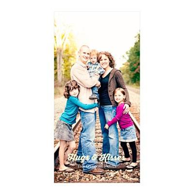Creative Message Vertical Photo Paper -- Valentine's Day Photo Cards