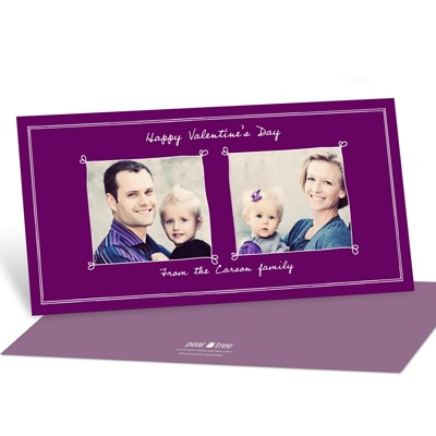 Heartthrob Horizontal Photo Valentine's Day Photo Cards