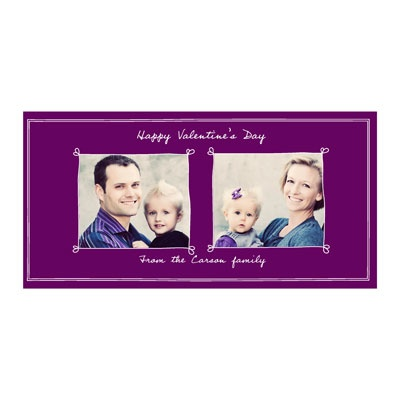 Heartthrob Horizontal Photo Paper Valentine's Day Photo Cards