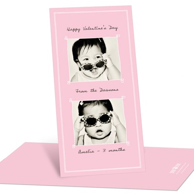 Heartthrob Vertical Photo Valentine's Day Photo Cards