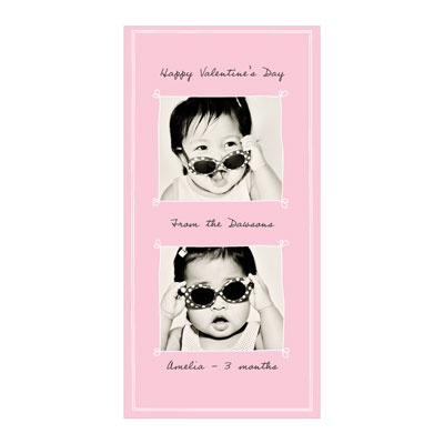 Heartthrob Vertical Photo Paper -- Valentine's Day Photo Cards