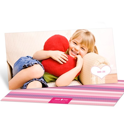 Cupid's Arrow Horizontal Photo Valentine's Day Photo Cards