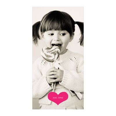 Cupid's Arrow Vertical Photo Paper Valentine's Day Photo Cards