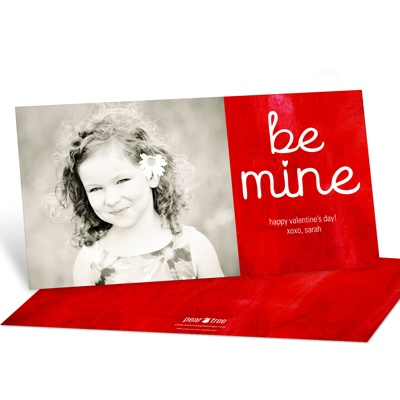 Be Mine Horizontal Photo Valentine's Day Photo Cards