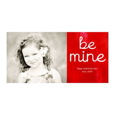 Be Mine Horizontal Photo Paper -- Valentine's Day Photo Cards