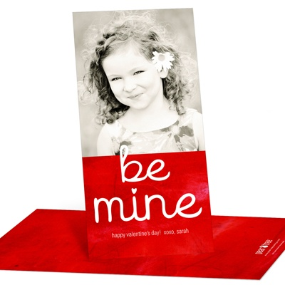 Be Mine Vertical Photo Valentine's Day Photo Cards