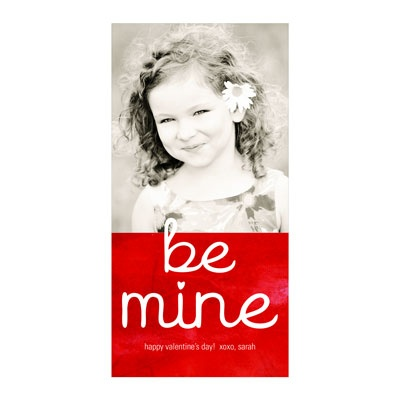 Be Mine Vertical Photo Paper Valentine's Day Photo Cards