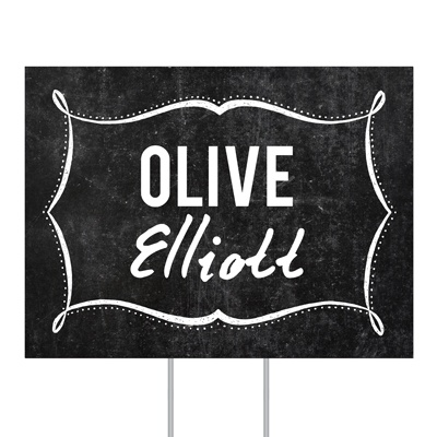 Name In Lights Yard Sign Graduation Party Decorations