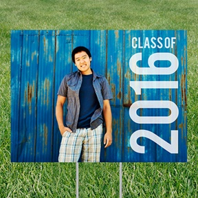 Class Year Photo Yard Sign -- Graduation Party Decorations