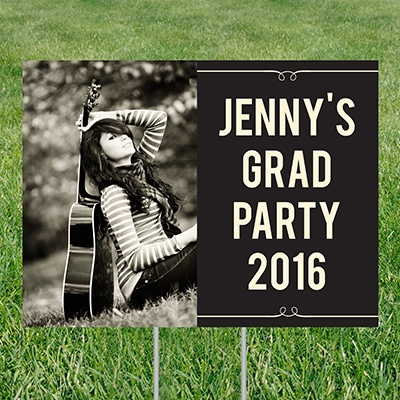 She's Invited Yard Sign Graduation Party Decorations