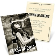 She's Invited Mini Graduation Announcements