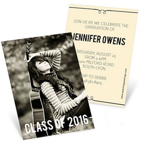 She's Invited -- Mini Graduation Announcements