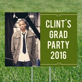 He's Invited Yard Sign -- Graduation Party Decorations