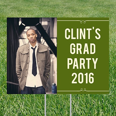 He's Invited Yard Sign Graduation Party Decorations