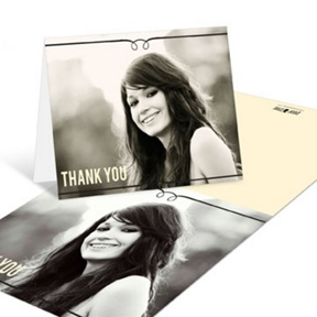 She's Invited -- Graduation Thank You Cards