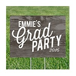 Weathered Wood Look -- Yard Signs