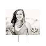 Monogrammed Photo Horizontal -- Yard Signs