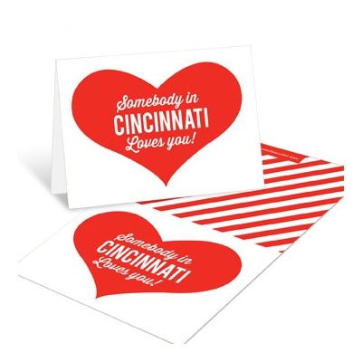 Long Distance Love Mini Note Cards