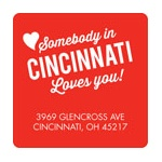 Long Distance Love -- Valentine's Day Address Labels
