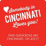 Long Distance Love Valentine's Day Address Labels