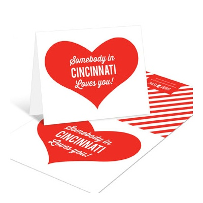 Long Distance Love Thank You Cards