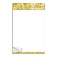 Gold Glitter Letterhead Custom Notepads